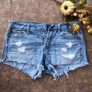 Abercrombie and Fitch Distressed Denim Shorts 29
